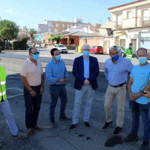 El Gobierno regional empezó los trabajos de mejora del firme de la CM-4174 Travesía de Pozuelo de Calatrava